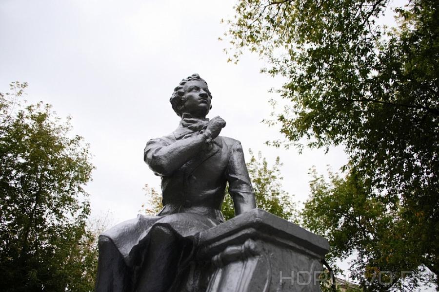 В Воскресенске благоустроен сквер с памятником Александру Пушкину