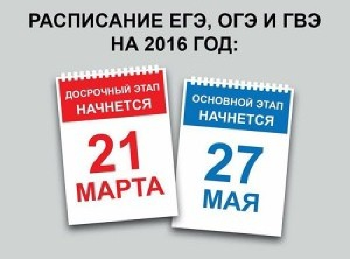 Утверждено расписание проведения ЕГЭ в 2016 году